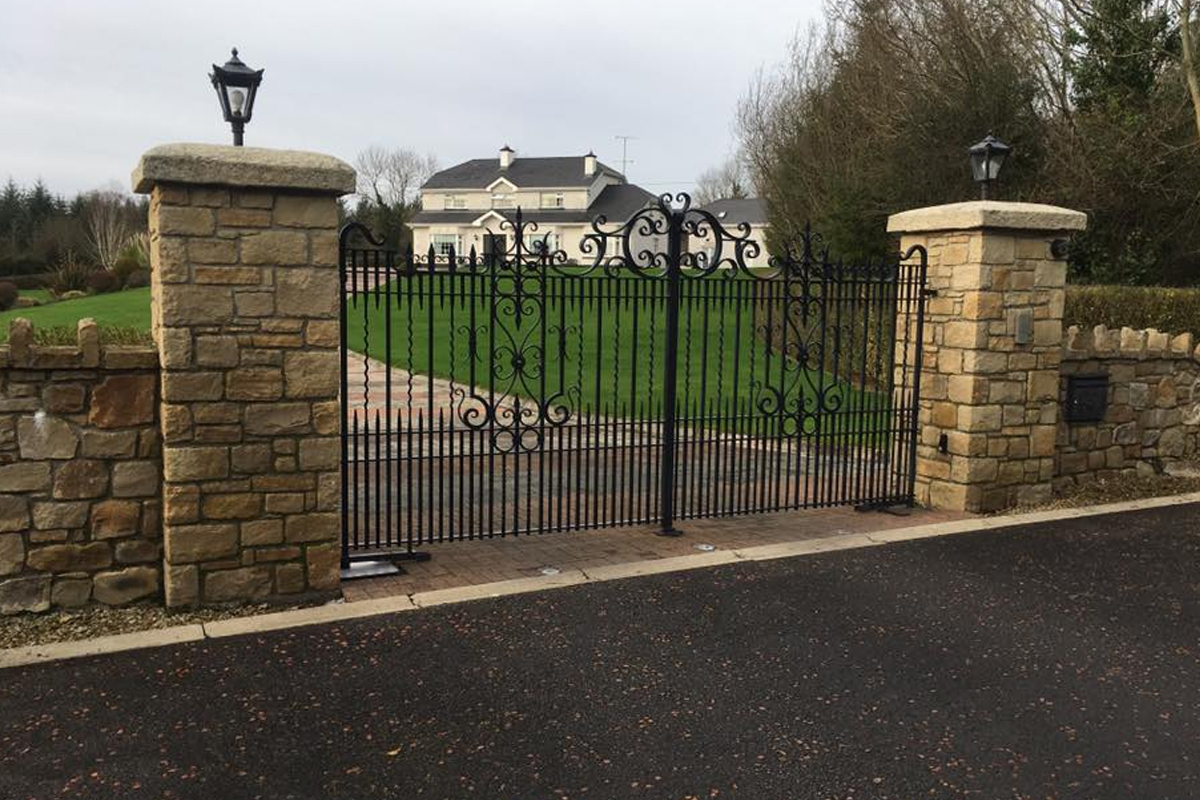 Wrought Iron Hand Forged Automatic Gates and Railings and Sliding Gates Rockforging Iron Crafts